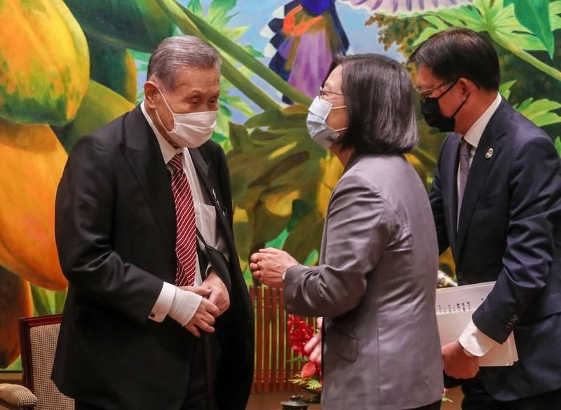 日本前首相森喜朗今天告訴總統蔡英文,新上任的日本首相菅義偉期待與蔡總統通電話,總統表達感謝。(資料照,中央社)