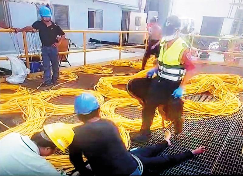 台電通霄廠進水口 維修工人溺斃