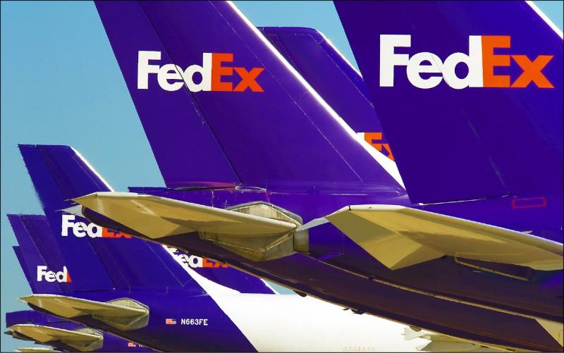 中國政府公布「不可靠實體清單」規定,將制裁危害中國主權、國安、發展利益的外國企業,曾將華為包裹「誤送」美國的聯邦快遞(FedEx)公司可能榜上有名。(法新社檔案照)