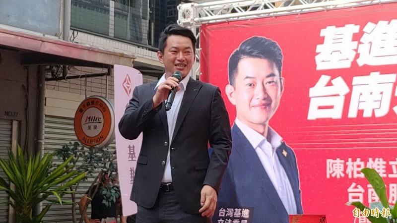 陳柏惟說,在台南成立服務處就是為了深根基層,發展組織,如果選前成立那是為了選舉,如今是選後成立,則是為了服務。(記者蔡文居攝)