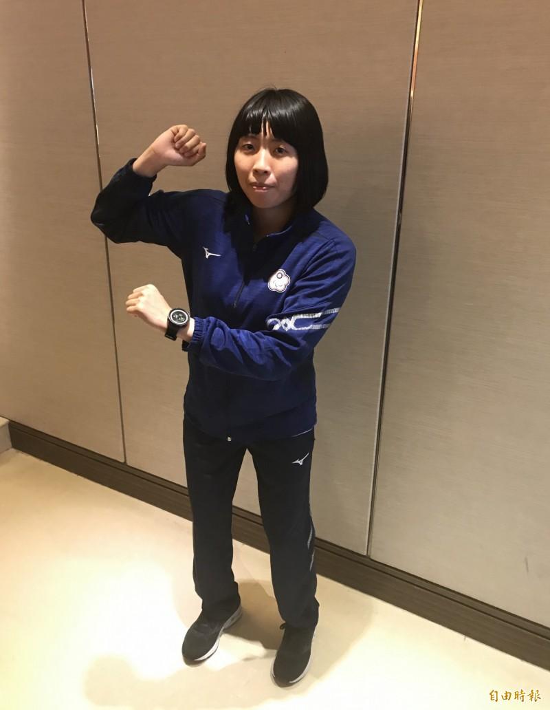 柔道好手李凱琳因視神經萎縮投入視障柔道,現在是世界排名第二名。(記者蔡思培攝)