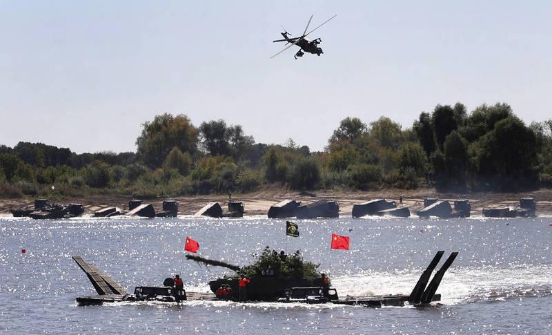 中國共軍將於21日至23日在黃海南部實彈射擊。圖為中國解放軍參加2020年國際陸軍運動會,與新聞事件無關。(歐新社檔案照)