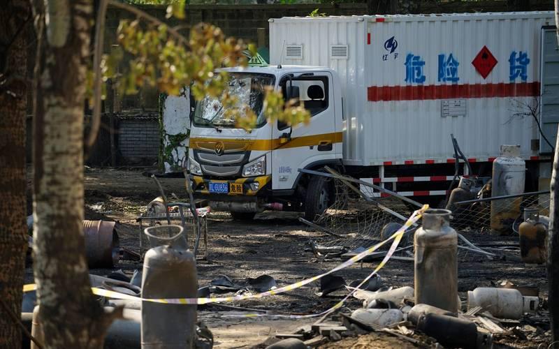 北京通州區1瓦斯場爆炸後,中媒齊噤聲。圖為爆炸瓦斯場的一景。(圖擷取網路)