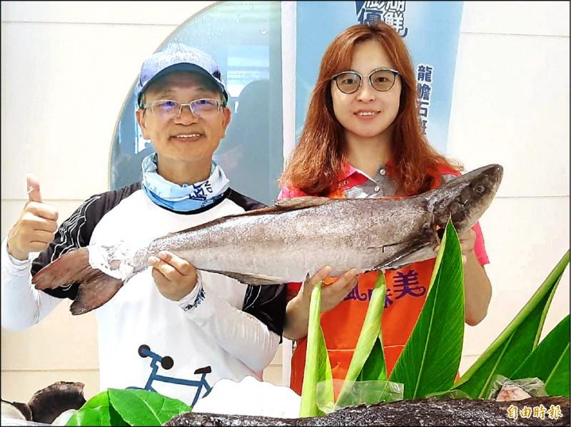 澎湖跨島自行車活動,主打龍膽石斑海鮮粥美食。 (記者劉禹慶攝)