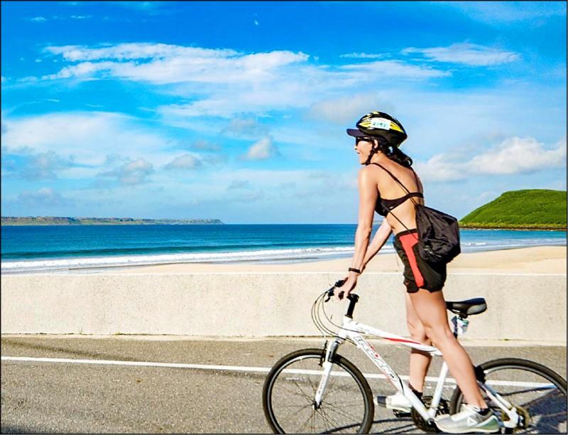 今年澎湖瘋秋冬系列活動,推出首屆澎湖跳島101K自行車活動,為明年台灣自行車旅遊年暖身。(圖:澎管處提供)