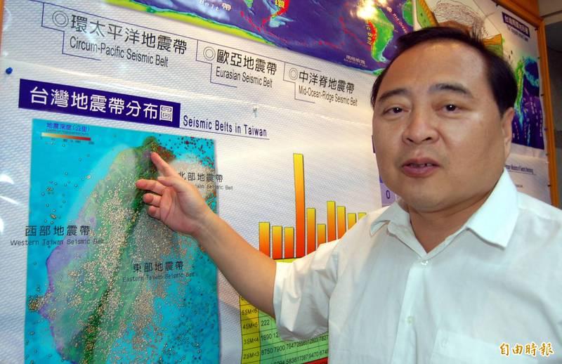 前中央氣象局地震測報中心主任郭鎧紋(見圖)指出,1999年921大地震前歷經一段地震「平靜期」,而台灣近年來地震明顯偏少,他研判近年又進入一個新的平靜期。(資料照)