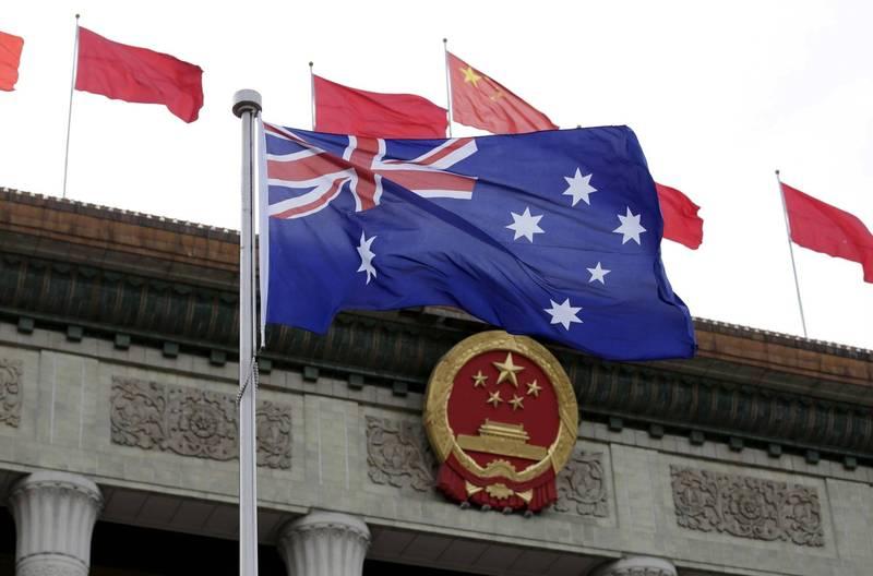 瑞典航天公司(SSC)不會再和中國續約,屆時北京政府將無法使用西澳大利亞州的太空監控站,削減了中國在太平洋地區不斷擴大的太空探索和導航能力。圖為中國北京人民大會堂前的澳洲國旗。(路透)