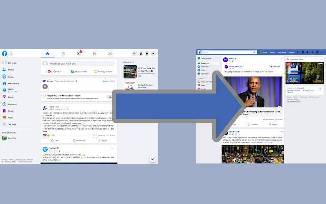 有網友研發擴充功能,能夠一鍵將臉書頁面「變回經典版」,在Chrome線上應用程式商店能直接下載使用,讓不少網友相當感動,湧入評論、稱讚。(圖取自Chrome應用程式商店「Old Layout for Facebook」)