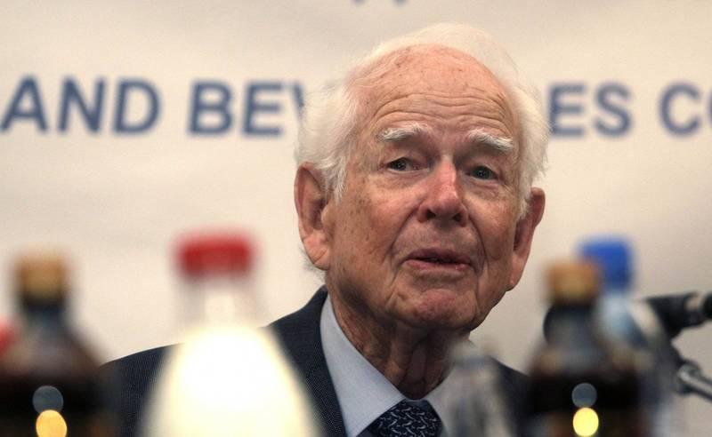 百事可樂前CEO肯達爾(Donald M. Kendall)19日逝世,享耆壽99歲。(美聯社)