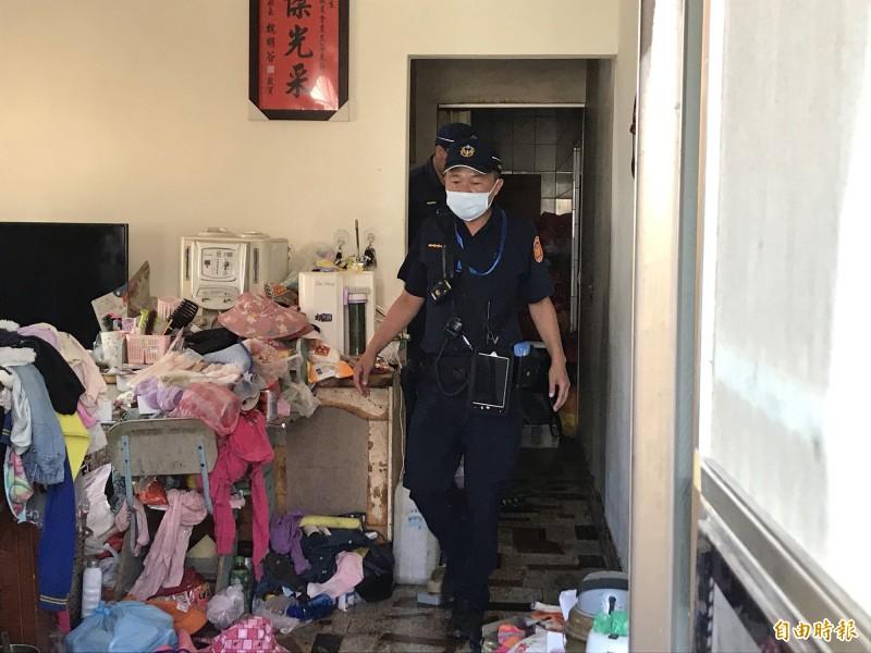 二林民宅火警,2歲、12歲女童搶救無效。(記者顏宏駿攝)