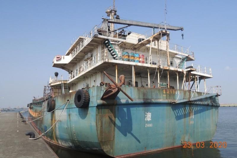 「豐溢9969號抽砂船」底價為32210000元,也是降價二成求售。(澎湖地檢署提供)
