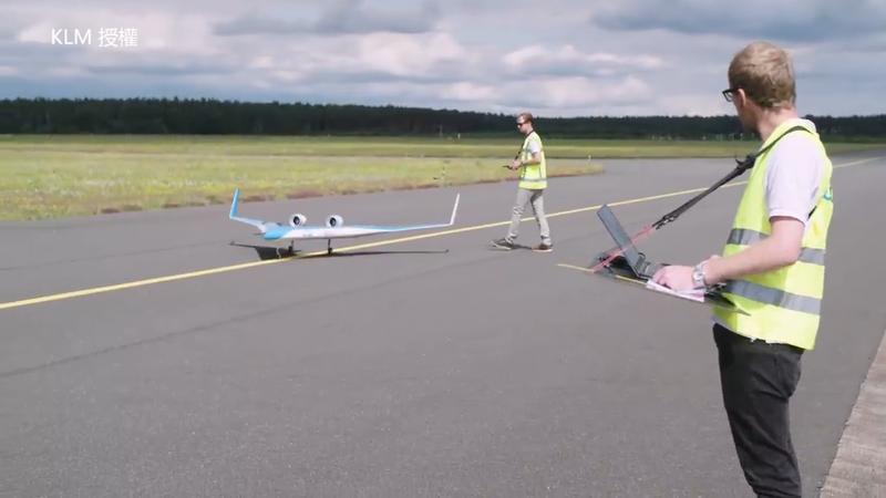Flying-V模型機即將起飛。(KLM 授權)