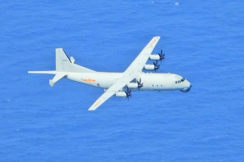 中國運八反潛機。(國防部提供)