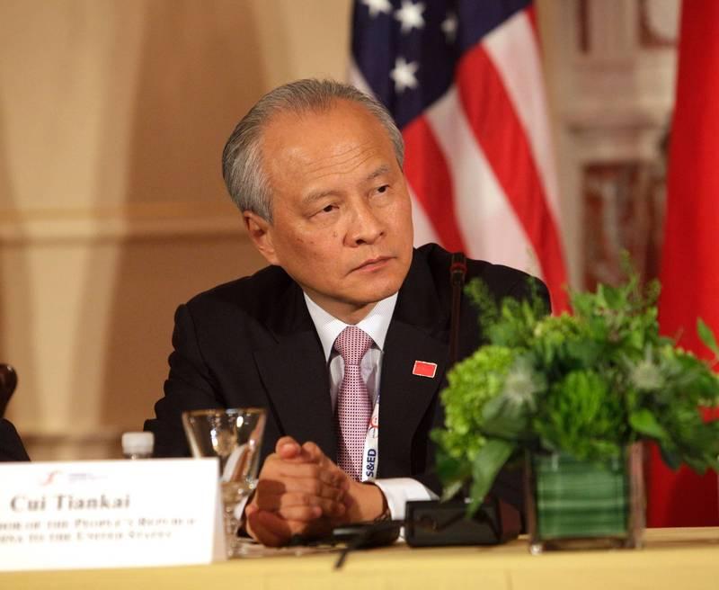 崔天凱(見圖)接受專訪時坦言,美中在台灣、香港的議題上有所分歧。(美聯社檔案照)