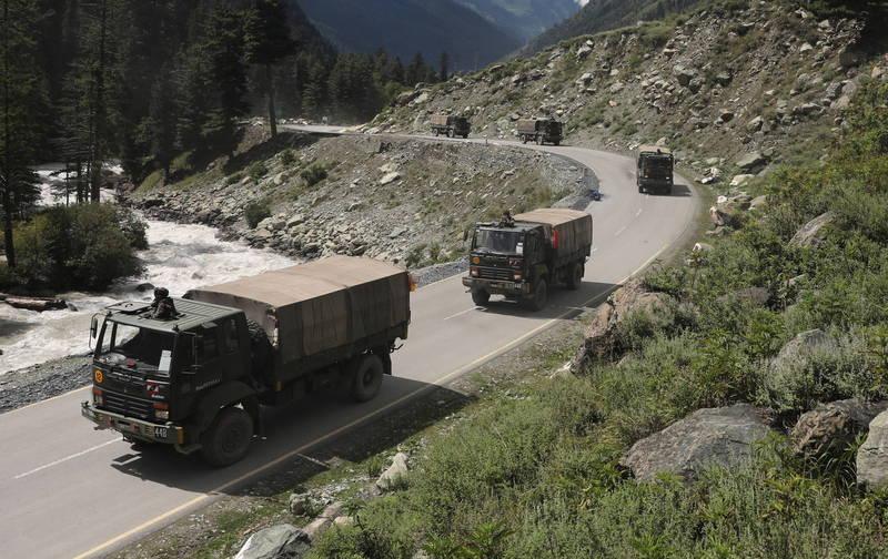 印度駐中印邊境拉達克的軍隊。(歐新社資料照)