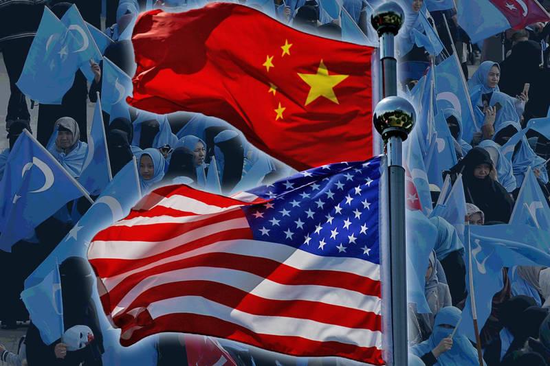 美眾院通過法案反制中國強迫維族勞動問題。(路透、美聯社,本報合成)