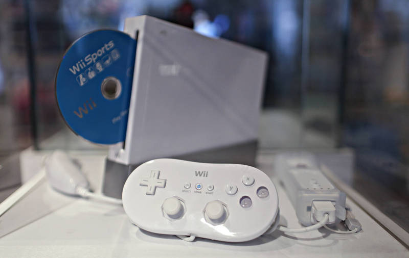 任天堂Wii遊戲主機。(彭博)