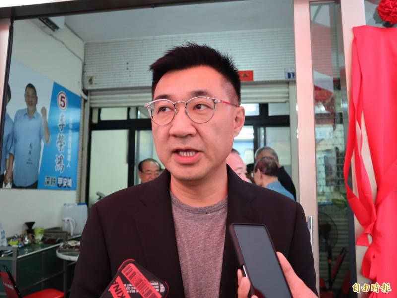 中國學者表示,兩岸和平需要國民黨;國民黨主席江啟臣對此回應指出,軍事演習無法增加兩岸互信。(記者歐素美攝)