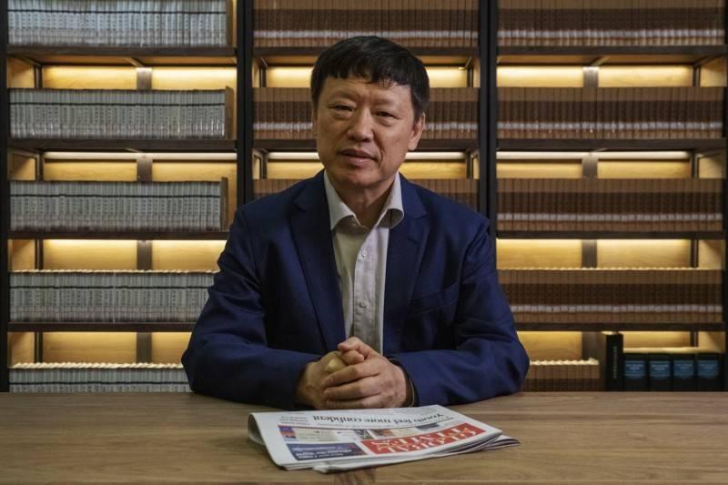 中國官方媒體《人民日報》旗下的《環球時報》總編輯胡錫進時常透過社論或是微博、推特發表「戰狼」言論。(彭博檔案照)