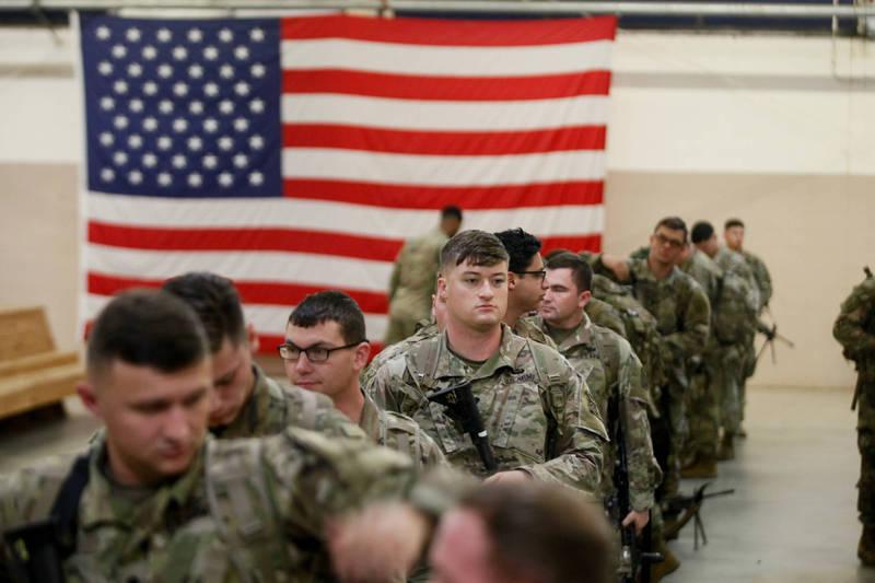羅致政認為,美軍不一定駐台才有嚇阻力;李德維則認為,美國派軍隊進駐的可能性不大。圖為美軍示意圖。(法新社)