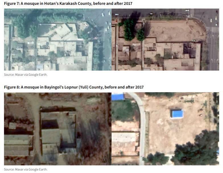 澳洲戰略政策研究所經比對衛星圖像及統計模型估算,中國當局近年來在新疆拆除了數千座清真寺。(圖擷自ASPI官網)