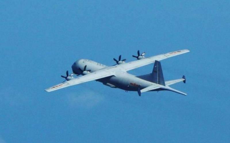 中國解放軍運8反潛機24日進入我西南防空識別區內飛航。 (圖擷取自國防部)