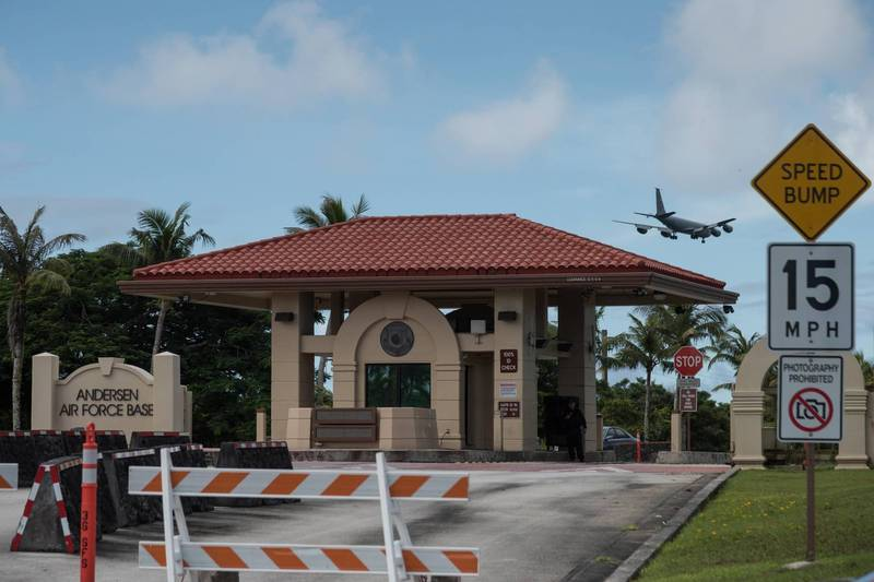 安德森空軍基地是美國位於關島的重要軍事地點。(法新社)