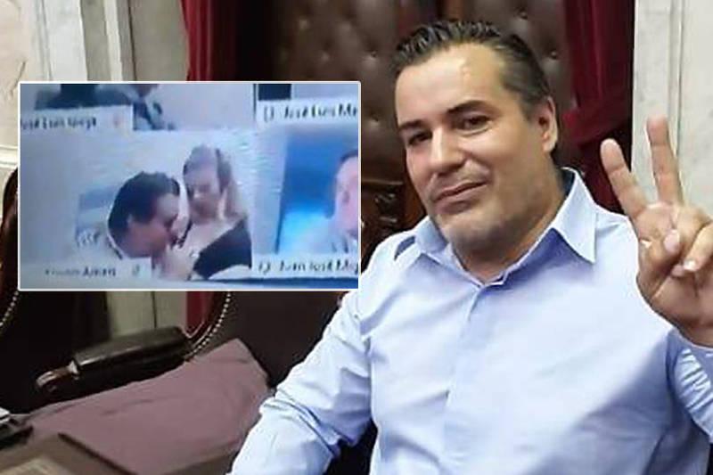 國會視訊「掀女友衣舔奶」影片全球瘋傳!阿根廷議員請辭