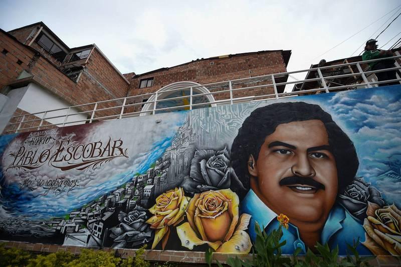 哥倫比亞毒梟艾斯可巴生前擁有巨額資產,他的姪子尼可拉斯近日在艾斯可巴的公寓牆內發現巨額現金。(法新社資料照)