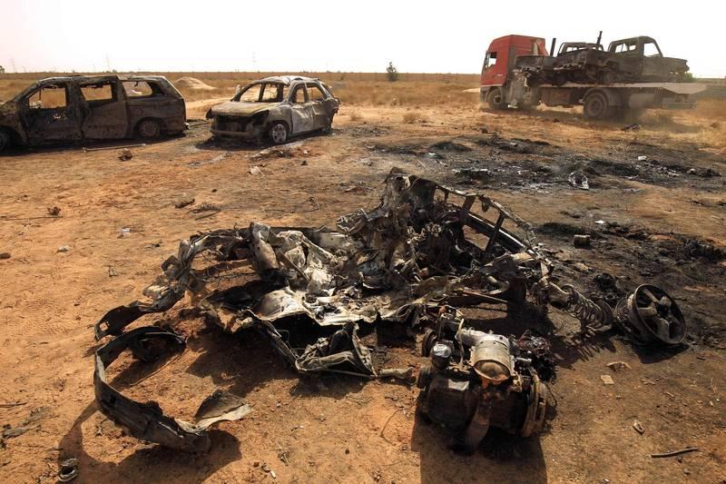 5名恐怖分子在安裝汽車炸彈時失手引爆,5人都被炸死。汽車炸彈示意圖,與本新聞無關。(法新社)
