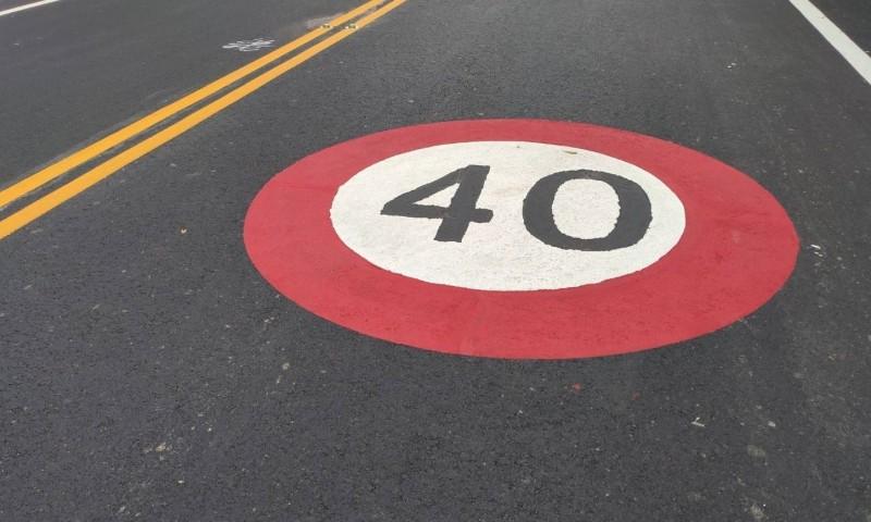 彰化139縣道危險路段降速40公里,新制將在10月21日上路。(記者劉曉欣翻攝)