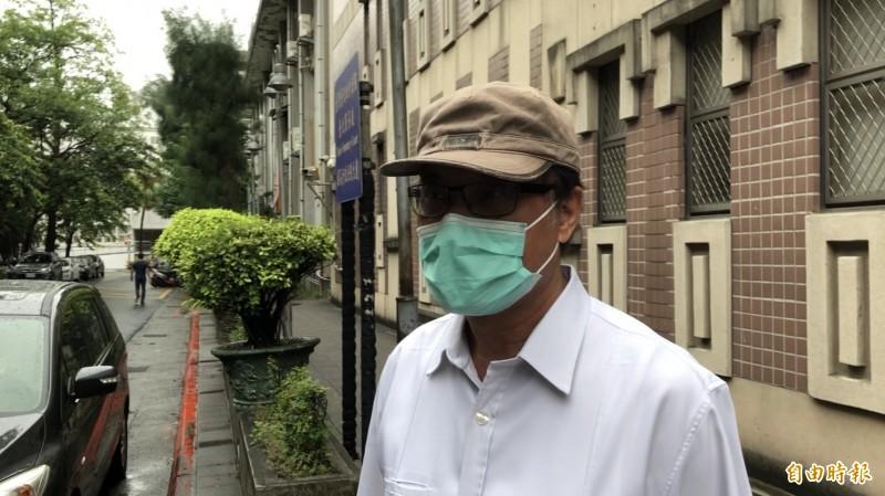總統府前秘書長蘇嘉全今親自出庭應戰。(記者溫于德攝)