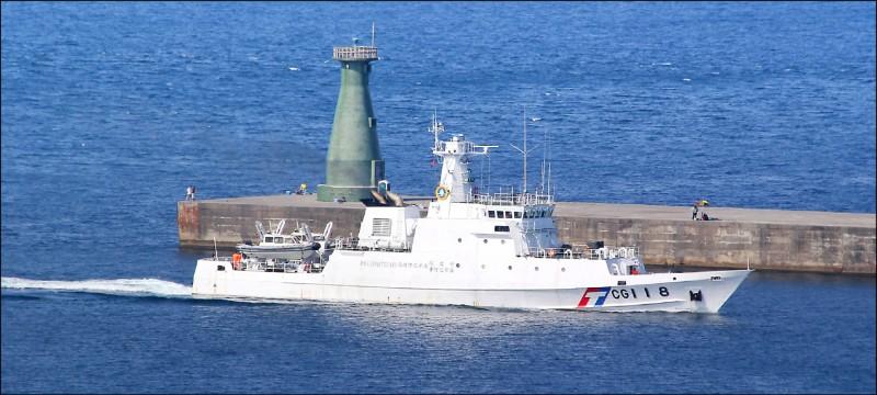 蘇澳籍漁船新凌波236號傳遭日本公務船衝撞,海巡署調派基隆艦(如圖)馳援。(記者江志雄翻攝)