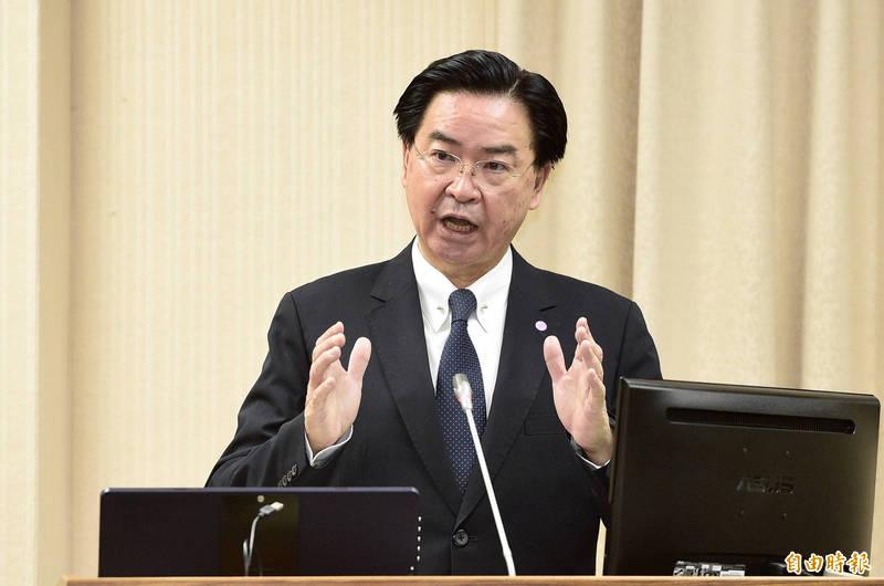外交部部長吳釗燮28日出席立法院外交及國防委員會報告業務概況並備質詢。(記者叢昌瑾攝)
