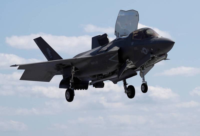 防衛省官員指出,美方將從10月起耗時半年,向岩國基地追加部署F-35B。(路透)