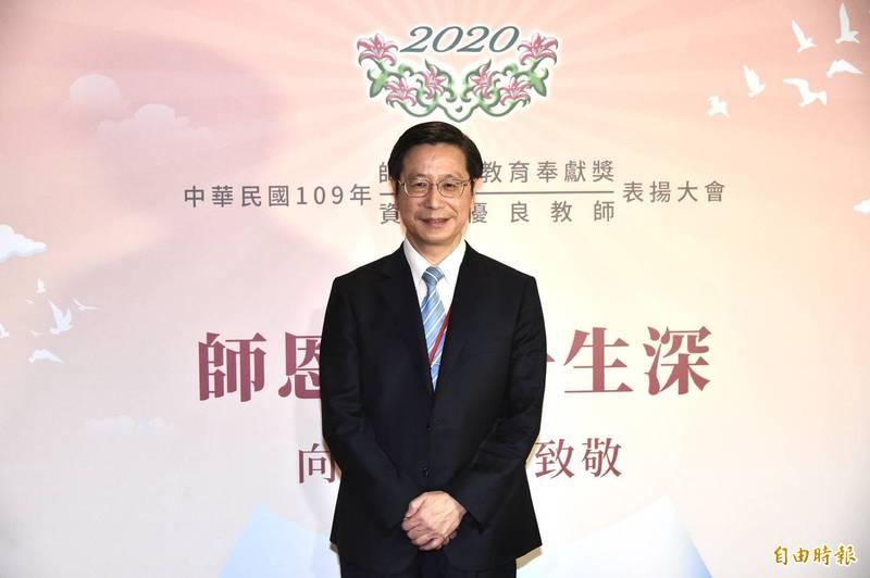 台大副校長張上淳獲頒師鐸獎,是今年最年長得主。(記者塗建榮攝)
