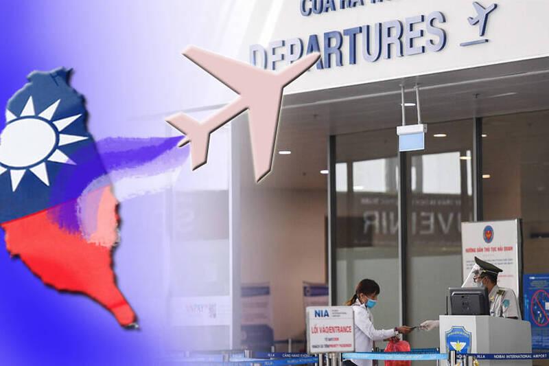 我駐越南經濟文化辦事處今天表示,「台北–河內」和「台北–胡志明」兩航線將於10月中上旬恢復,國人將可搭乘上述幾家航空公司的商務航班往返台越。(本報合成)