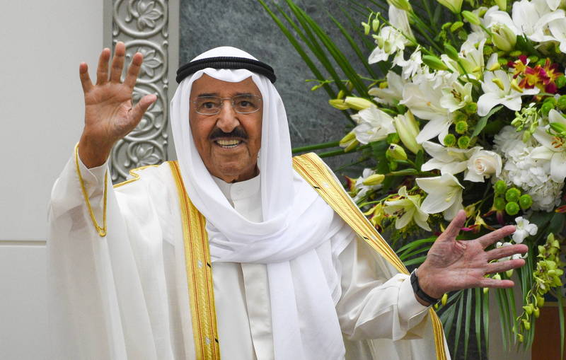 科威特元首薩巴赫四世(見圖)今日去世,享耆壽91歲。(歐新社)