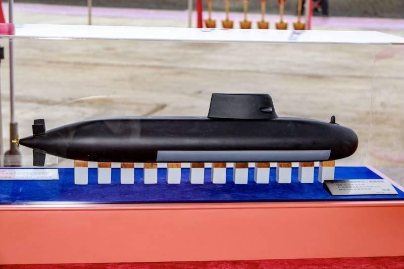 總統蔡英文傳出將主持潛艦國造原型艦開工儀式。圖為潛艦國造原型艦模型。(國防部提供)