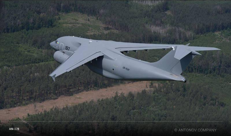 烏克蘭將啟動軍用運輸機汰換計畫,目前消息傳出將先採購3架AN-178軍用運輸機,不排除日後持續增購,圖為AN-178軍用運輸機。(擷取自安東諾夫國營公司官網)
