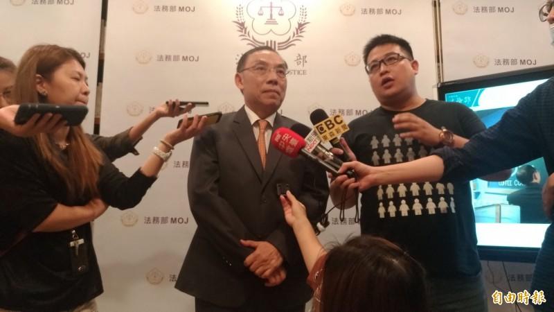 法務部長蔡清祥下令修正毒駕規定。(記者吳政峰攝)