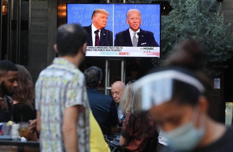 民調顯示,有近7成觀眾對於這個辯論會的心得是「令人煩躁」。(法新社)