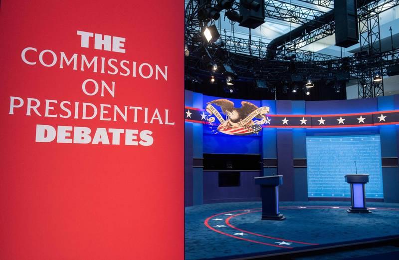 美國總統大選首場辯論將登場,中國《人民日報》昨刊登評論要求美國大選不應濫用中國問題作戲。(法新社)