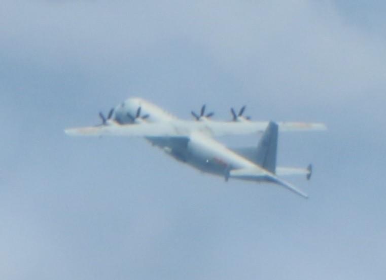 國防部公布運八反潛機的照片。(國防部提供)