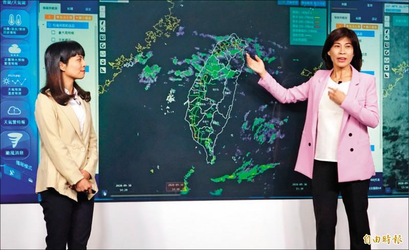 交通部首創「路況播報員」,針對國道連假疏運做即時路況播報,同時也提供即時氣象資訊。 (記者王藝菘攝)