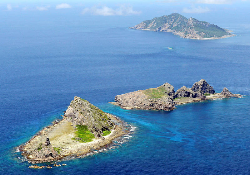 The Diaoyutai Islands are pictured in the East China Sea in September 2012. Photo: Reuters / Kyodo / file photo