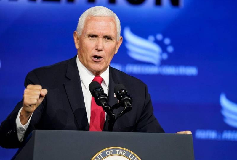 美國副總統彭斯的武漢肺炎檢測結果為陰性。(美聯社資料照)