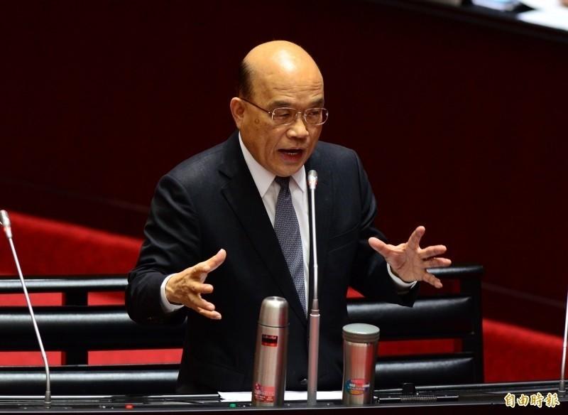 針對勞保基金財務問題,行政院長蘇貞昌日前曾信心喊話:「政府如果沒倒,勞保就不會倒!」(資料照)