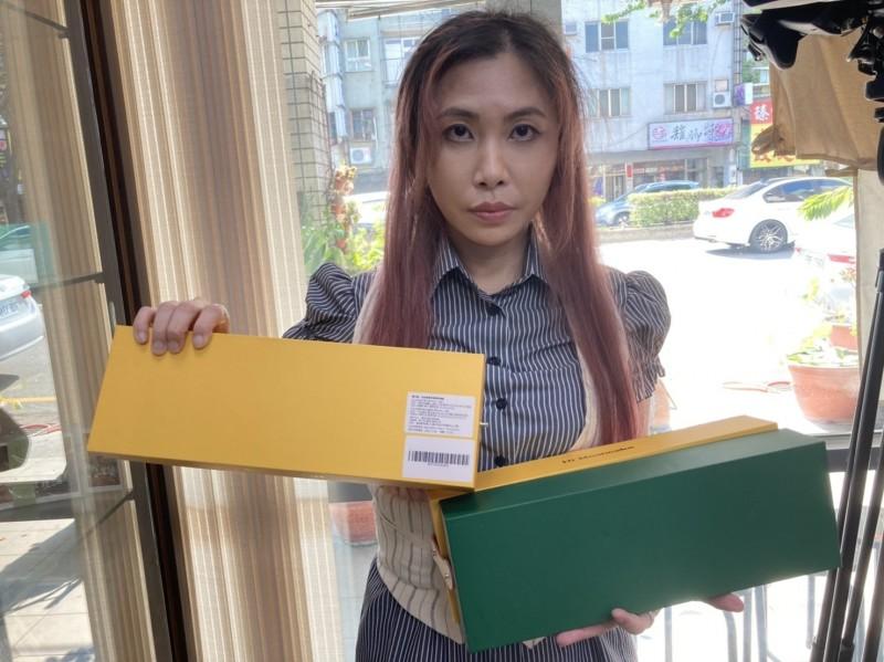 市議員賴佳微收到香港製月餅竟發霉,要求相關單位重視境外食安問題。(記者蘇金鳳翻攝)