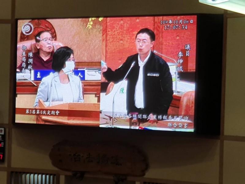 李坤城要求陳潤秋將資料遞交給衛福部,並追蹤後續。(記者邱書昱翻攝)